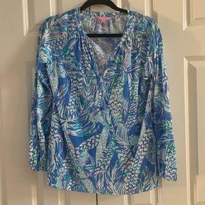 {Lily Pulitzer} cotton blouse size small, EUC